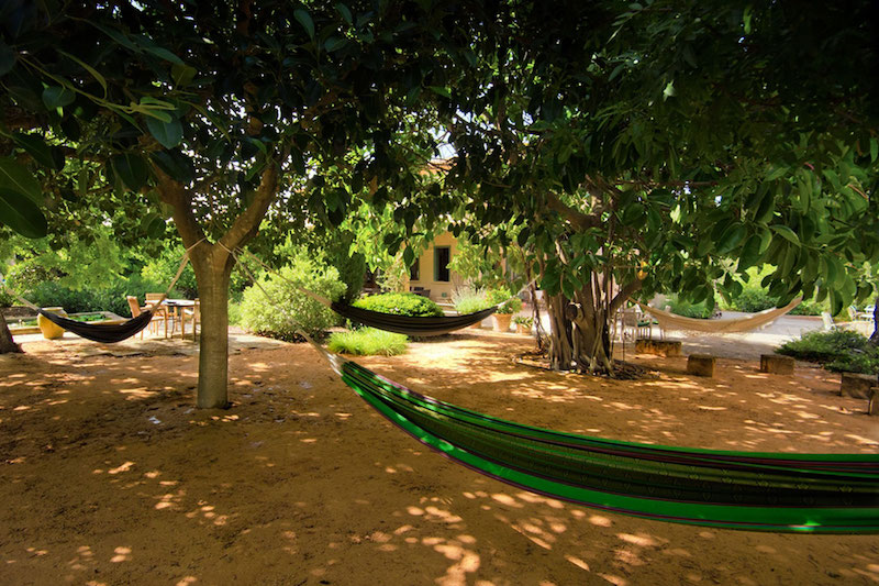 Rest point in a yoga retreat of Mallorca
